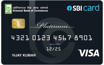 Oriental Bank of Commerce - SBI Platinum Credit Card