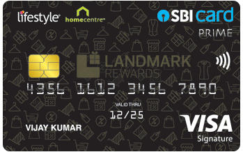 Lifestyle Home Centre SBI Card PRIME