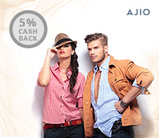 Get Rs 300 Instant discount at Ajio.com  Min. Purchase: Rs 1299