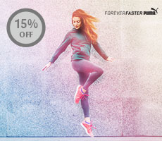 Get 15% Instant Discount at http://www.puma.com  Offer Valid only on Apparel Purchases